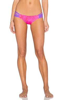 Lisa Lozano Fan Print Macrame Bikini Bottom in Fan