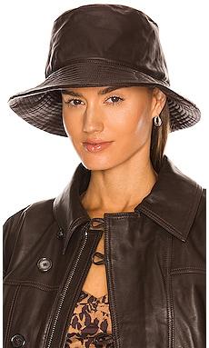 Leather Bucket Hat LPA $178 NEW