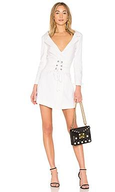 Купить Платье-жакет со шнуровкой ivory - LPA белого цвета