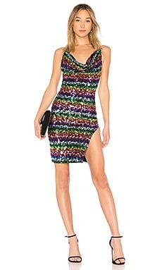 Купить Мини платье 658 - LPA черного цвета