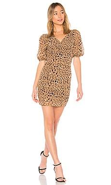 Купить Обтягивающее платье 694 - LPA цвет цвет загара