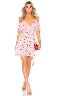 Cold Shoulder Ruffle Wrap Dress LPA $188 NEW ARRIVAL