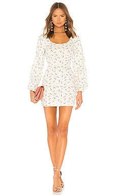 Puff Sleeve Mini Dress LPA $178