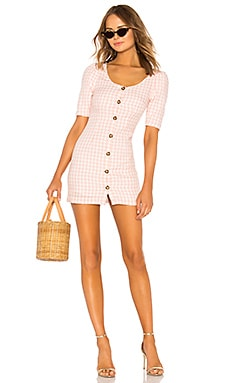 Puff Sleeve Button Up Dress LPA $158