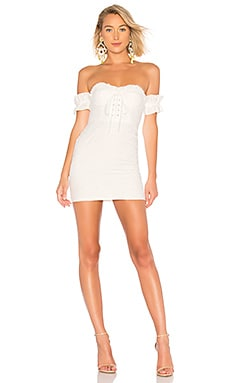 Fitted Lace Up Dress LPA $198 BEST SELLER
