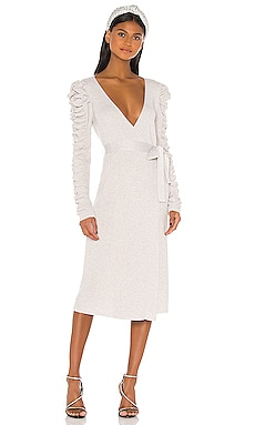 Платье миди ozanna - LPA Белый фото