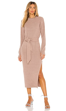 Long Sleeve Ribbed Dress LPA $198 NEW