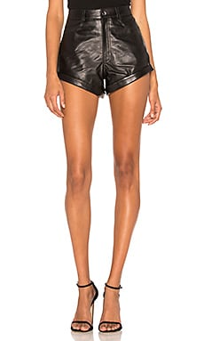 SHORT EN CUIR RELAXED CUFF SHORT LPA $298