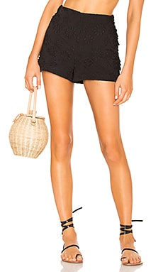 High Waist Short With Side Ruffles LPA $83 Collections