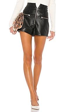 Lorenzo Leather Shorts LPA $328