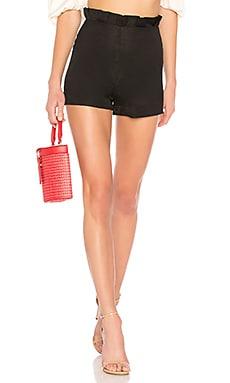 Купить Присборенный нижний край шорты ruffle - LPA черного цвета