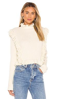 Alexa Ruffle Sweater LPA $168