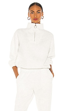 Mock Neck Zip Sweater LPA $178