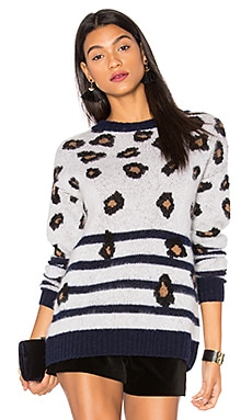 x REVOLVE Sweater 225 in Leopard Stripe