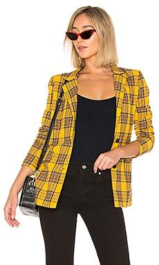 Купить Блейзер boxy blazer - LPA желтого цвета