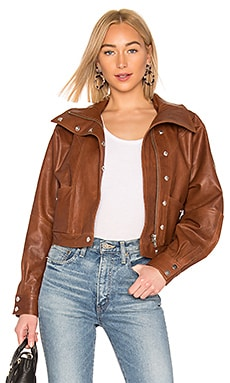 Oversized Leather Jacket LPA $498 Collections