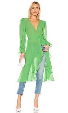Ruffle Duster With Peasant Sleeves LPA $188 BEST SELLER