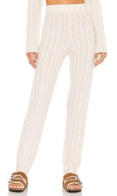 Cashmere Cable Knit Easy Pant LPA $126