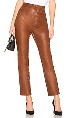 PANTALON LEATHER STRAIGHT LEG LPA $378 BEST SELLER