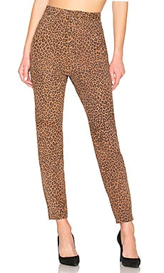 PANTALON EN CUIR LEOPARD LEATHER PANT LPA $90
