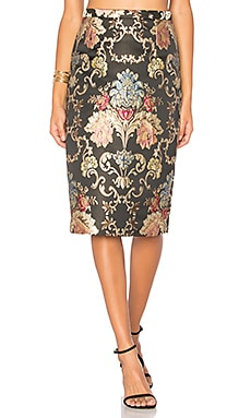 Skirt 116 in Floral Jacquard