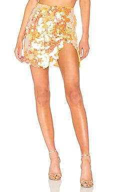 Payette Sequin Draped Mini Skirt