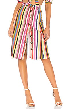 Button Up Midi Skirt LPA $158 BEST SELLER