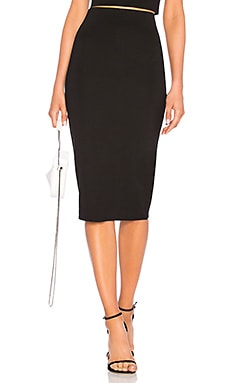 Юбка миди fitted midi skirt - LPA