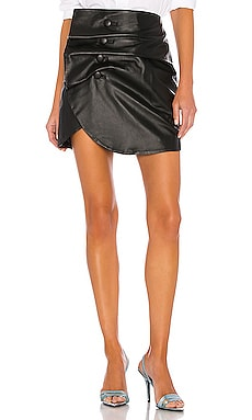 Vreeland Leather Mini Skirt LPA $398