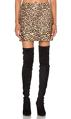 Skirt 32 in Tan Leopard