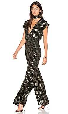 Jumpsuit 76 in Gold Dot
