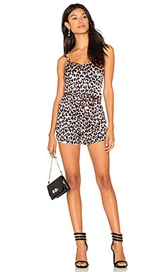 Romper 188 in Peach Leopard