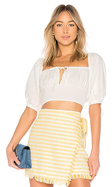 Puff Sleeve Peasant Top LPA $138