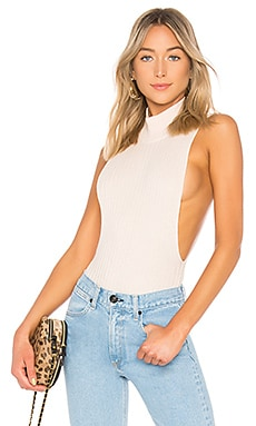 Side Open Rib Bodysuit LPA $98
