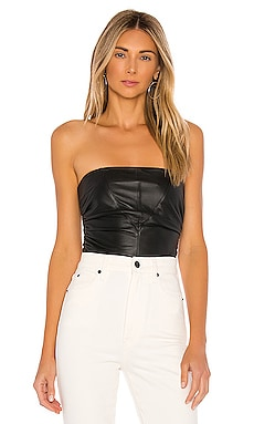 Bianca Leather Corset Top LPA $160