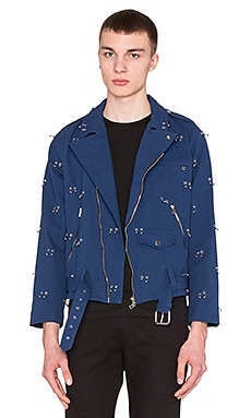LPD New York Pierced Perfecto Jacket in Navy