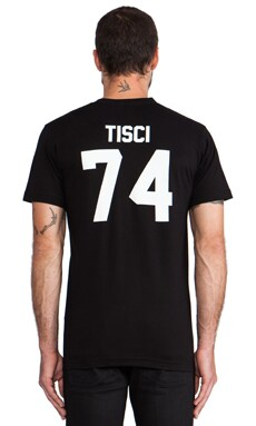 LPD New York Tisci Tee with White Print in Black