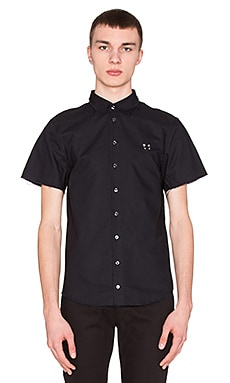 LPD New York S/S Button Down in Black