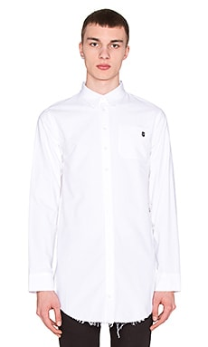 LPD New York Long Button Down in White