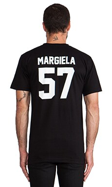 LPD New York Margiela Tee with White Print in Black