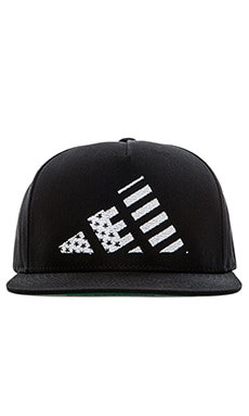 LPD New York Mountain Flag Snapback in Black