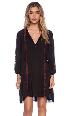 Love Sam Lorel Dress in Black & Wine