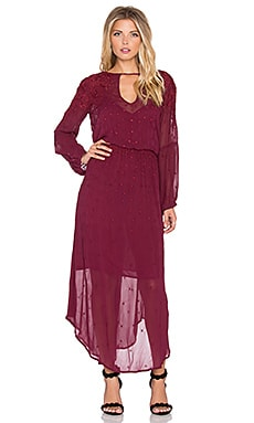 Emma Maxi Dress in Beet & Beet