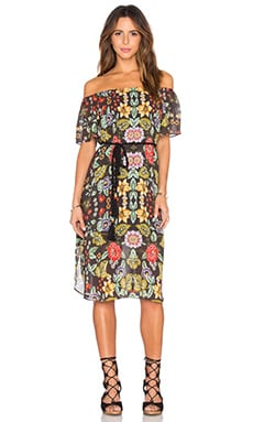 Silvia Dress in Warhol Flower Print