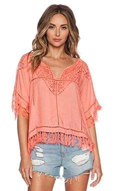 Love Sam Molly Top in Coral