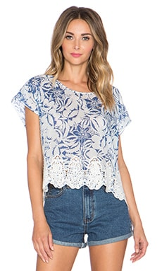 Love Sam Sophie Open Back Tee in Nomad Floral Print