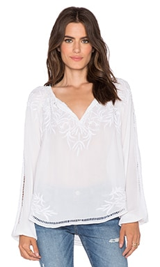 Love Sam Viscose Embroidered Top in White