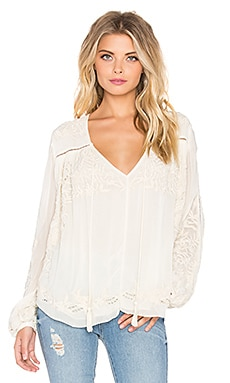Love Sam Mimi Blouse in Vanilla