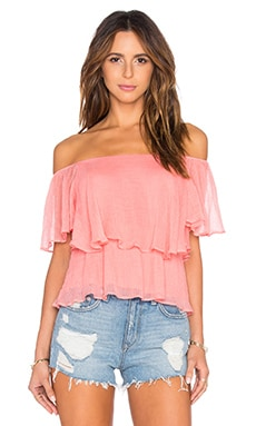 Elizabeth Top in Coral