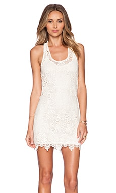 L*SPACE Sylvie Lace Mini Dress in Natural